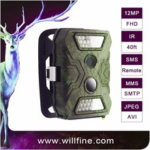 12MP 1080P PIR motion detection optional 940nm 850nm black camo gsm wifi game wildlife scouting customizing trail camera with 3g