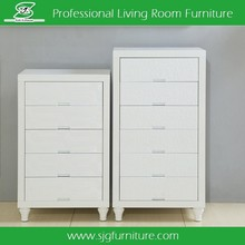 French Style Furniture 5 Drawers White Living Room Cabinet Wall Units