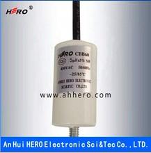 Hot sell cheap CBB60 5uF 450V capacitor for water pump