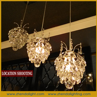 Guzhen LED crystal pendant light dinning room LED pendant lamp crystal