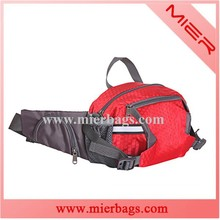 customized adult fashionable polyester hip bag to pack mobile and cigarette