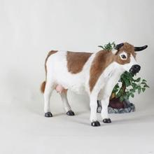 Bottom price hotsell wholesale small size plush cow toys