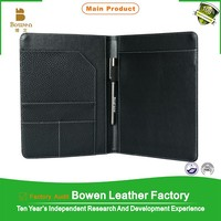 Custom a5 genuine leather notebook cover for Christmas gift