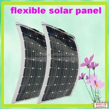 High efficiency semi flexible solar panel china100w for Camping, Caravan and Yach