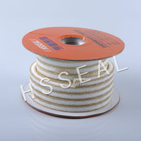 high strength good sliding properties white PTFE packing with kevlar fiber PTFE with aramid in corners reinforced braid packing
