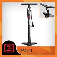 Black steel floor pump bicycle tire inflator cycling