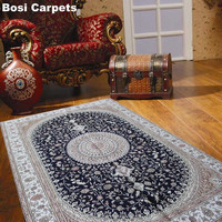 fashion design good quality 100% pure silk material persian carpets rugs