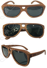 2015 fashionable and handmade true colored bamboo sunglasses with custom boxes