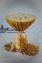 Gold Sequin Cocktail Table Cover \ Table Cloth