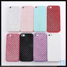 Popular Diamond Case Shell for iPhone 5/5S Hard Plastic Mobile Casing with Diamond Ornament Mobile Phone Casing for iPhone 5/5S