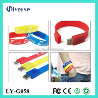 Cheap silicone bracelet wristband memory custom usb flash drive