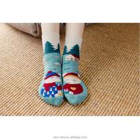 Christmas Gift 100% Cotton Terry Cushion Socks Mismatched Deer And Panda