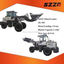 Zl-930 baixo preço 3 ton pequeno pá carregadeira balde