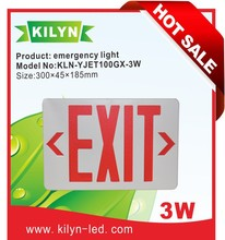 Energy saving Emergency exit luminaire,red exit sign,fire safety indicating light