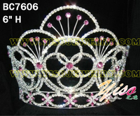 flower crystal beautiful pageant crowns tiaras