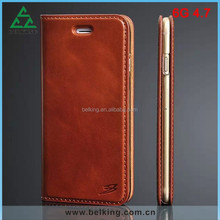 Luxury Slim Case For iPhone 6 Genuine Leather Flip Real Leather Cover Case