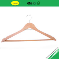 LM6601 Custom Natual Wooden Tank Top Hanger With Wood Bar