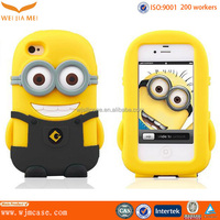 alibaba china supplier mobile phone accessory 3d minions silicone rubber case for iphone 6