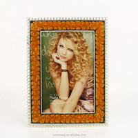 creative Frame European and American the home fashion hollow coconut metal photo frameHQ070047-46