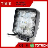 """4"""" 15W 9-32V Square LED Work Light - 30 Degree Beam"""