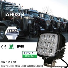 50W 6.5 inch 6.5inch 6.5'' Car Magnetic Flashing Cube High Power Super Bright Projector Motorcycle Truck EMARK Led Work Light