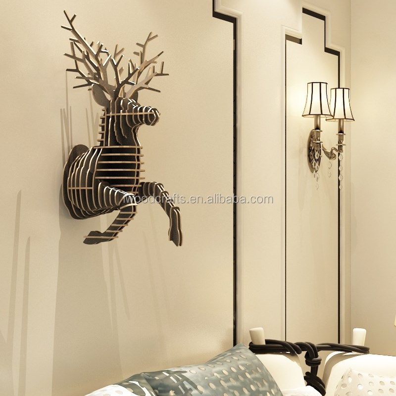 euro style wood deer home decoration item buy home detai vinyl deer themed home decor seagrass wall