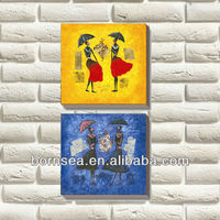 group painting customized wall painting oil painting reproduction