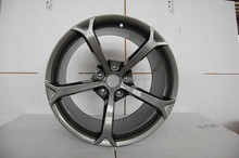 car Alloy Wheel with gun metal machined face