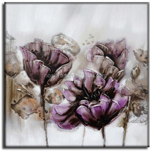100% handpainted oil painting abstract flower