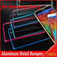 2015 Luxury Aluminum Metal Bumper for Samsung Galaxy Note3 N9006 Pure Color Frame