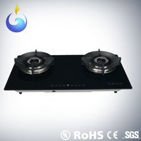 High performance tempered glass gas cooker with timer function