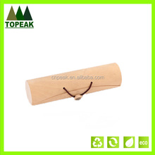 high quality, custom logo printing wooden bark boxwith elastic enclosure,Packaging Box for glasses/gift WD-105
