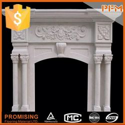 well polished natural wholesale white quartz fireplace surrounding