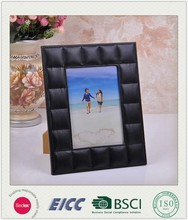2015 May new coming photo frame BSCI factory, PU leather photo frame, Memory photo frame