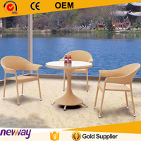 Popular China table and chairs Poly Rattan Outdoor Furniture Cane Dining Chair