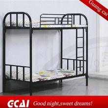 Iron round tube design safety kids bedroom furniture bunk bed