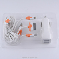 New 12V-24V input 5V 2A output 3in1 usb cable charger Adapter For USB interface devices