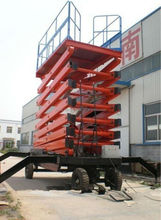 Mobile scissor hydraulic car lift for service station(ce)