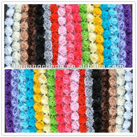 Chiffon lace flower trimmings/ shabby rose flower trim wholesaler, wedding dress, home textiles accessories