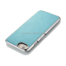 PU cell phone case with metalic frame for Iphone(3)