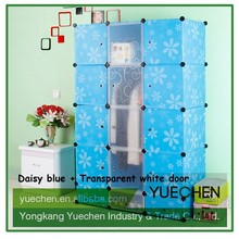 Many years for decorative portable plastic good cheap pvc wardrobe by China factory