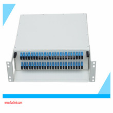 2U 48 Ports Rack Mount Fiber Optical Patch panel ODF with Drawer type