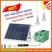2014 Promotion-Lowest price portable10watt Solar energy system for home lighting