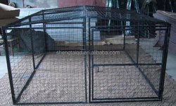 China wholesale metal dog kennel / dog kennel cage / galvanized steel dog kennel