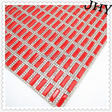 Wholesale Red Crystal Square 24*40cm Hotfix Adhesive Rhinestone Sheets Garment Accessories