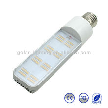 LED G24 PLC light 8w with Energy star and Patent design