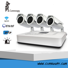 H.264 CCTV Nvr Kit 960P 4CH IP Camera Kit P2P POE NVR Kit