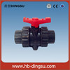 Upvc/pvc double union ball vales with cheap price for irrigation/pvc fitting