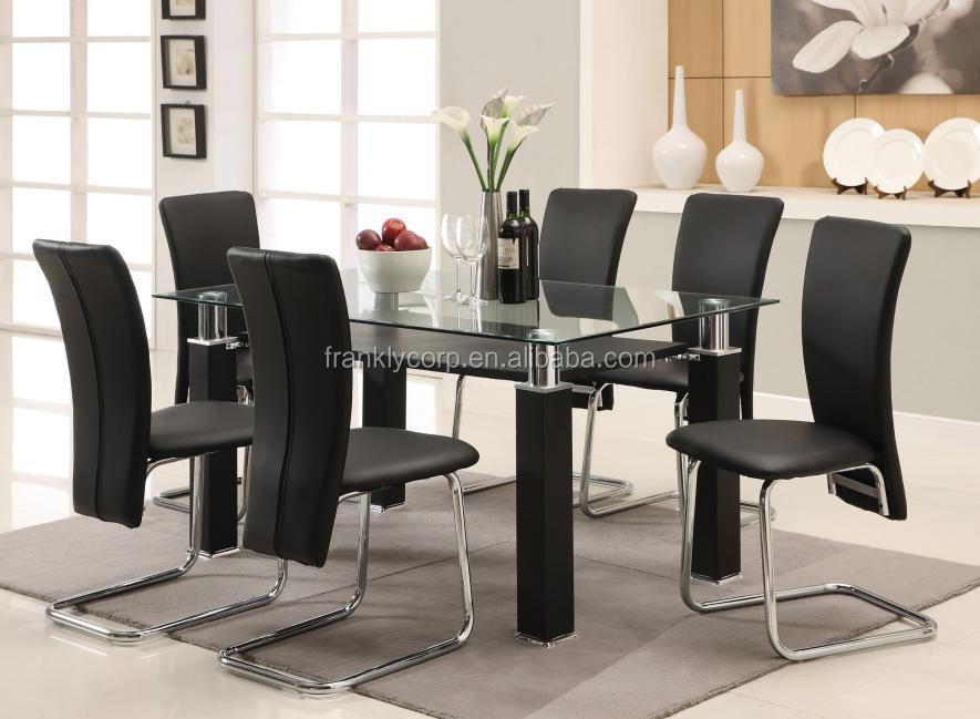Luxury Tempered Glass Dining Set Home Furniture Dining Room Table Buy Dinin