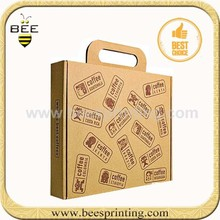 Kraft Pinstripe Candy Box For Birthday With Tattoo Package